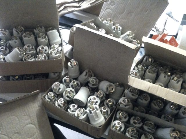 bulb sockets in parcels